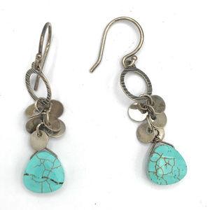 W2365 Silpada Sterling Silver Howlite Earrings (b)